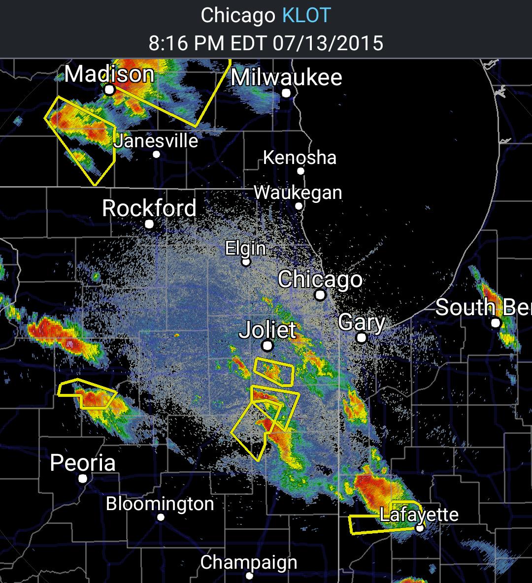 evening chicago radar